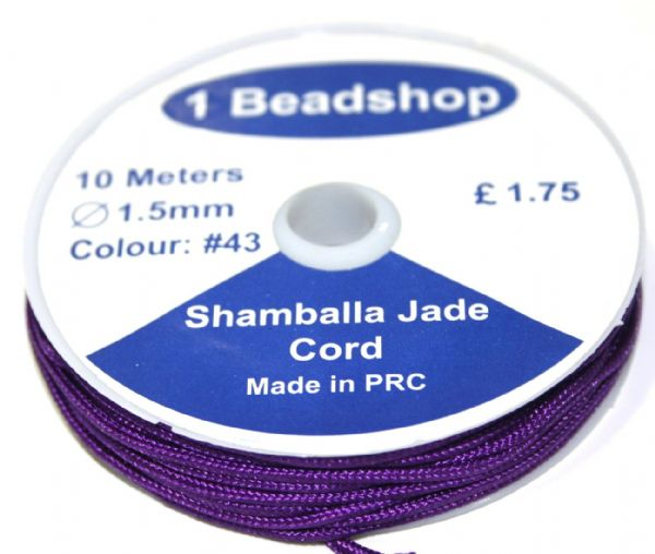 Dark Purple 43 10 Metres x 1.5mm Jade Cord JSC-10-1.5-43 / S.B